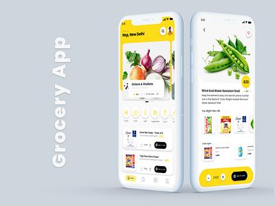 Grocery App 2020 - PART 1 2020 design food order grocery store grocery app ux rkhd web typography app ui logo branding illustration design