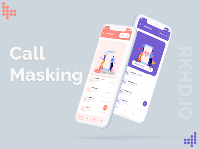 Call Masking App Concept Part-1 call to action call logs call recording color clean design creative love clean call masking call 2020 ui trends ux typography design rkhd