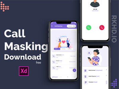 Call making App free download Now creativity color clean concept calligraphy typography design icon 2020 ui trends branding ux illustration rkhd