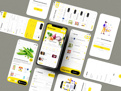 Grocery app graphic free downlaod rkhd checkout add to cart signup graphic design grocery store grocery logo 2020 login website ecommerce 2020 ui trends typography branding illustration design
