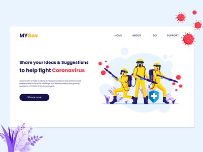 Corona Protectors indian gov indian stayhome colorful support india mygov fight corona lockdown corona web illustration ui ux app 2020 ui trends typography branding rkhd design