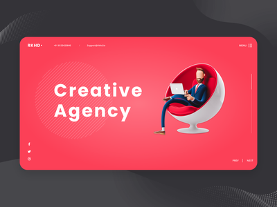 Creative Agency 2020 creativity agency branding agency website creative design agency creative rkhd web vector website typography 2020 ui trends branding illustration design