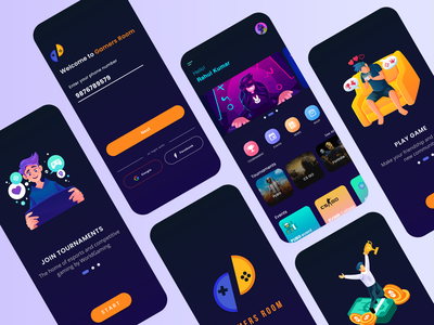 E-Sports - Tournament Host Design gaming logo logo esport onboarding play game design login app ux typography 2020 ui trends illustration rkhd event gaming app tournaments ecommerce
