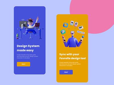 UX - Onboarding Screens 3d clean design branding design ui  ux intro ux design tools design app uidesign rkhd app typography illustration onboarding ux ui