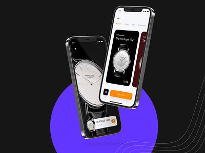 The Ambassador Watch Store watches iphone mockup iphone 12 branding illustration delhi india rahul kumar uidesign ux design ecommerce app app store store app website store watch