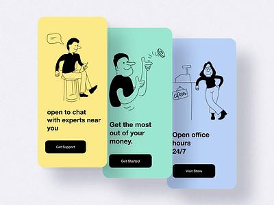 Sass Onboarding Screens login ui ux logo rkhd 2020 ui trends saas onboarding illustration apps design animation visit store support apps onboarding sass