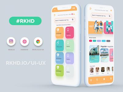 Doctor App rkhd design app illustration ux