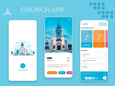Church App 2020 Design church design app church ux branding website ui 2020 ui trends typography illustration design rkhd
