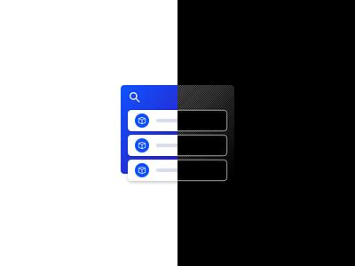 Product List Illustration design system components branding illustration design