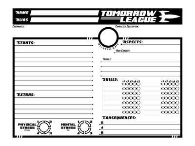 Charactersheet:  The Tomorrow League