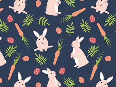 Happy Bunnies illustration digital easter surface pattern illustration