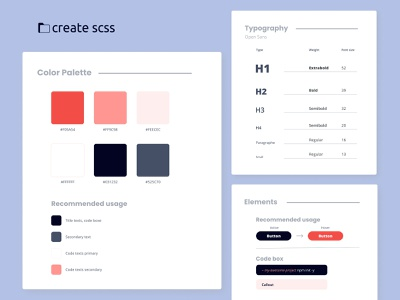 create scss website - style guide typo typography brand color palette figmadesign styleguide style figma design website ux ui design ui