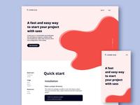 create scss website - design landingpage landing webdesign web color figmadesign figma website ux ui design ui design