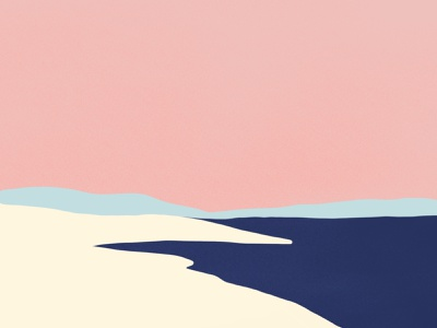 L'île procreate app procreate art design simplicity simple pink color minimal illustration