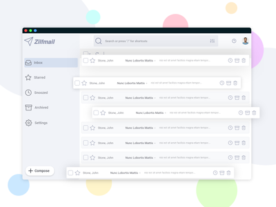 Mail app Concept qualityshitdesign light icon adobe xd editorial email dashboard email web branding vector adobexd dashboard ui ui design