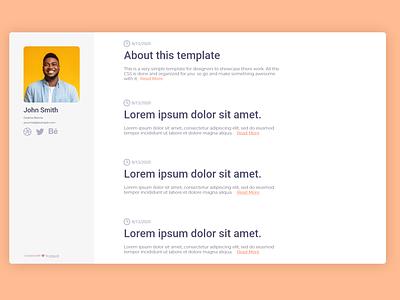 Portfolio Me - a simple portfolio template (3) blog post blog site blog design adobe xd qualityshitdesign adobexd ui web design