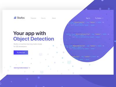 Hero Concept machine learning ai purple design typography desktop ux animation ui