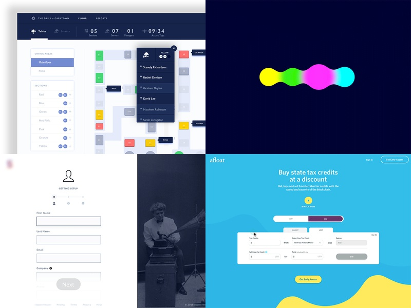 Pretty cool Dribbble desktop blue logo animation ui