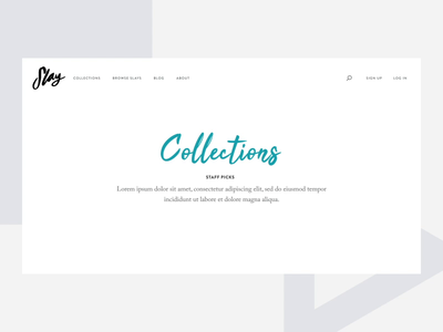 Slam Collections Concept grid gallery teal ux desktop animation