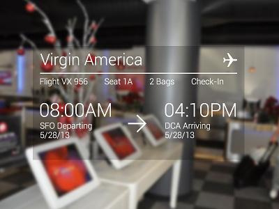Google Glasses Check-in time check-in feedback google glasses google glasses thin transparent flight virgin virgin america minimal interface airplane