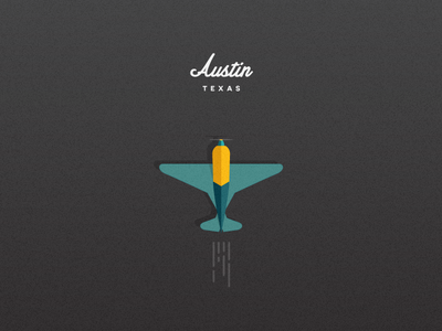 San Francisco, CA ↝ Austin, TX design black illustration flying airplane texture flat vector new air texas