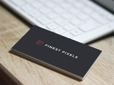 Business Card Options shadow uppercase logo branding portfolio desk pixels gray red business card