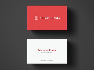 Business Card shadows web design pixels stripes red card business