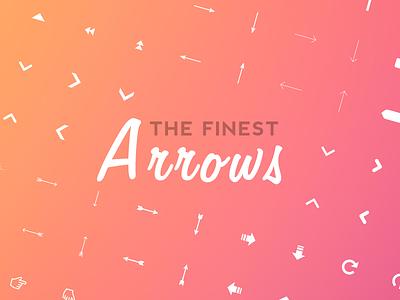 The Finest Arrows icons vector arrows