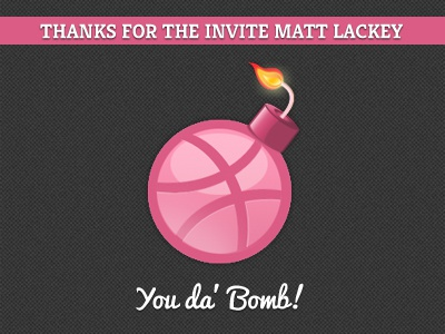 Thanks Matt Lackey thank you dribble bomb icon