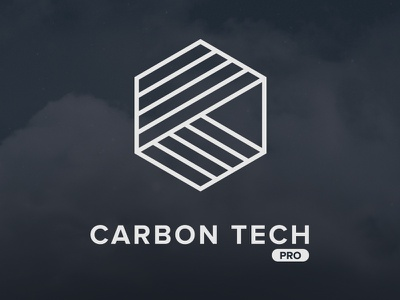 Carbon Tech Pro hexagon blue dark design branding icons illustration texture logo