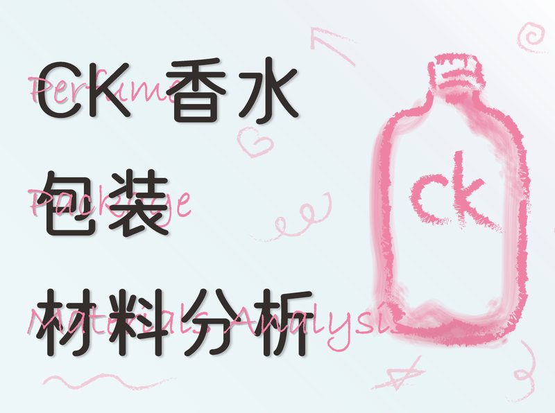 CK perfume package materials analysis