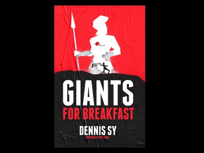 Giants for Breakfast (Book Cover) book cover branding typography illustration