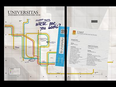 Universitas, May 2019 (Magazine Cover) magazine illustration swiss grid magazine vignelli typography illustration book cover