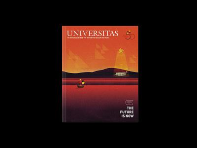 Universitas, October 2018 (Magazine Cover) university uap seas design swiss magazine illustration illustration typography book cover