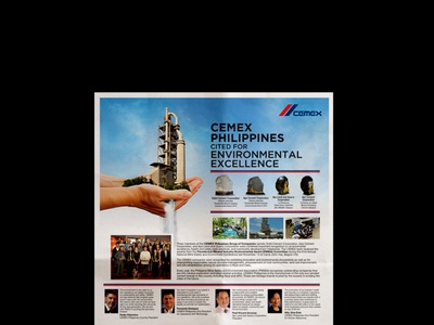 CEMEX for Environmental Excellence (Newspaper Ad) environment manila mexico philippines new york graphicdesign newspaper