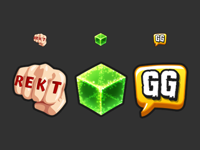 Twitch Emotes game tattoo cube gg rekt fist twitch emoji emote
