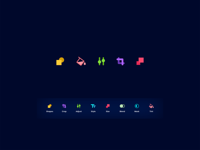 Icon Set for Poster Maker app icondesigner icondesign icons icon mobile ui mobile ux ui