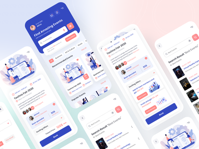 Event Booking App event book events booking ios app ios app design events event mobile app ios mobile design mobile ui mobile