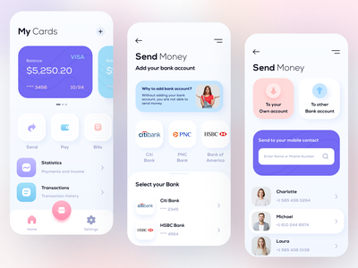Wallet App digital wallet wallet application banking app online banking banking wallet app wallet mobile app ios app design ios app ios mobile design ux ui mobile ui mobile