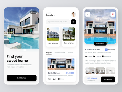 Home buy and rent app property rent buy property marketing property real estate buy rent real estate house buy house rent house buy home home rent home mobile ui mobile ux ui