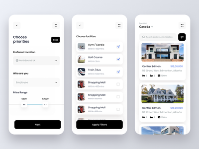 Buy or rent a home buy home property rent property house rent home rent house home ios app design ios app mobile app ios mobile design product mobile ui mobile ux ui