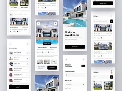 Buy or rent a home buy property buy home home rent home real estate property rent property product mobile app mobile design mobile ui mobile ux ui