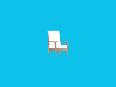 """I'm gonna sit right over chair."" unused cushion illustration chair"