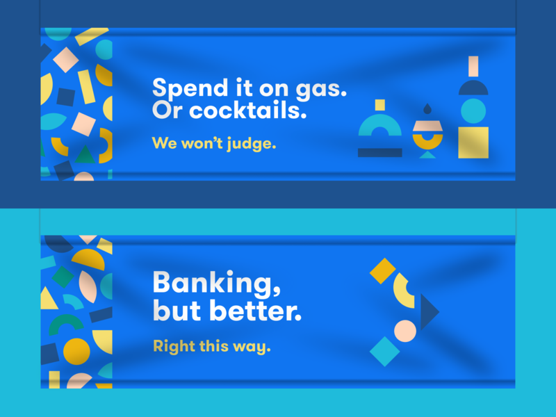 Financial Shapes playful brand identity bank brand brand banking app geometry cocktails finance shapes banking