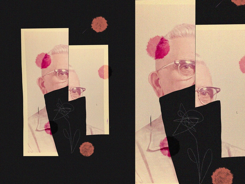 Collage 03 sketch cut paper found photo collage