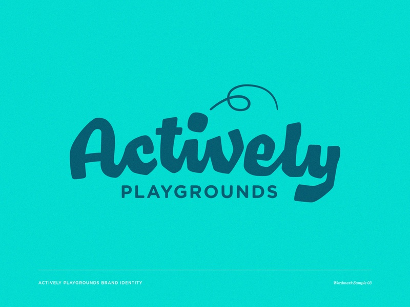 Actively 03 swingset wordmark playground play outdoor logotype lettering custom wordmark brand identity
