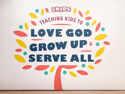 CrossPoint Church 04 - CP Kids environmental murals cross church logo church brand mural church brand identity