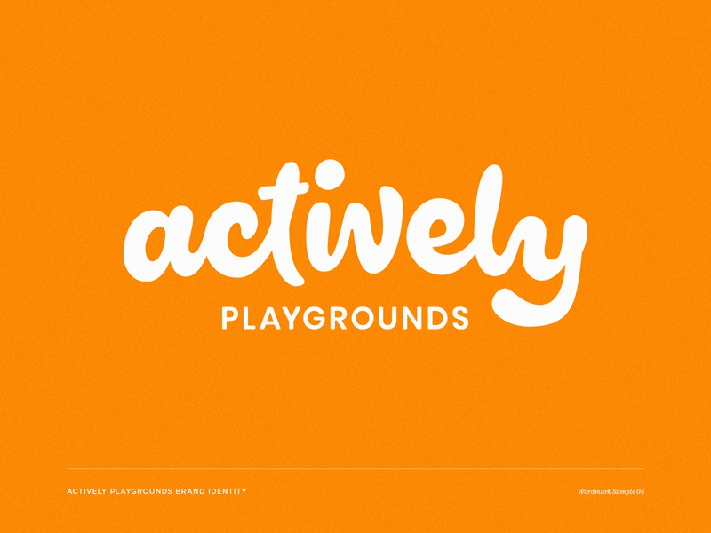 Actively 04 active wordmark swingset playground play outdoor logotype lettering custom wordmark brand identity
