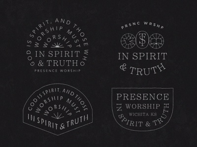 Presence Worship 04 john 4:24 merch band tee music bible dove worship truth spirit type badge type lockup tee skate