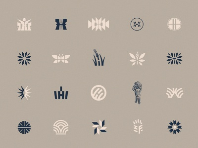 THF Mark Explorations church planting church midwest fields butterfly flower symbol icon trademark foundation harvest logo
